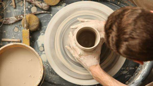 Man doing pottery Royalty-free stock video