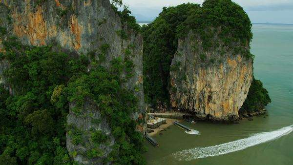 Aerial View Of Ao Phang Nga National Park Tourist Boats 17a272 437