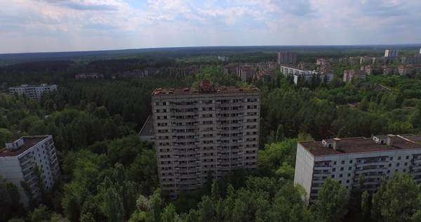 The Abandoned City of Pripyat near Chernobyl  Today a chilling ghost town  stock footage