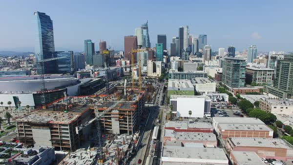 Wide shot of Los Angeles CA, USA Royalty-free stock video