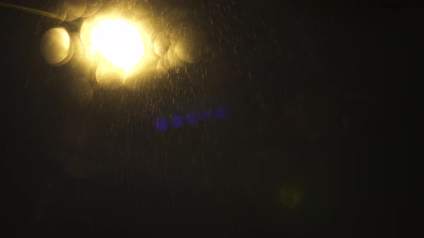 Low-angle shot of blurred street light in San Francisco Royalty-free stock video