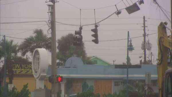 Hand-held shot of stormy wind in Florida Rights-managed stock video