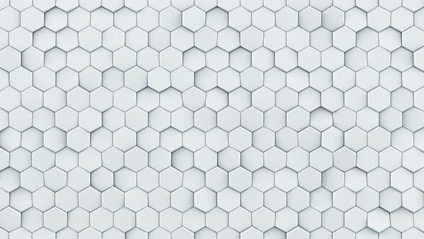 White Hexagon Pattern Modern 3d Render Smooth Animation