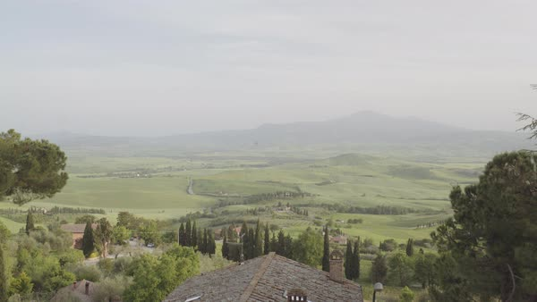 View of Tuscan Hills landscape Royalty-free stock video