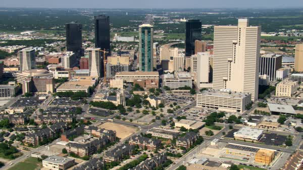 Downtown Ft  Worth, Texas  Shot in 2007  stock footage