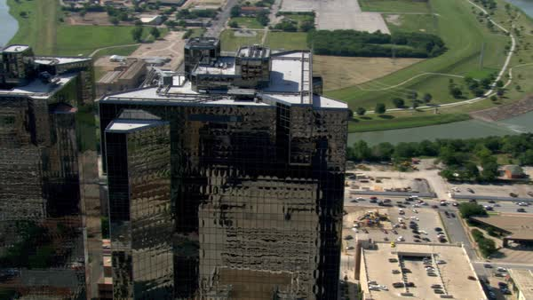 Black towers in Fort Worth, Texas  Shot in 2007  stock footage