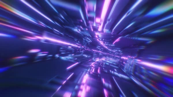 Background Movement In An Abstract Futuristic Neon Tunnel D1869 17 083