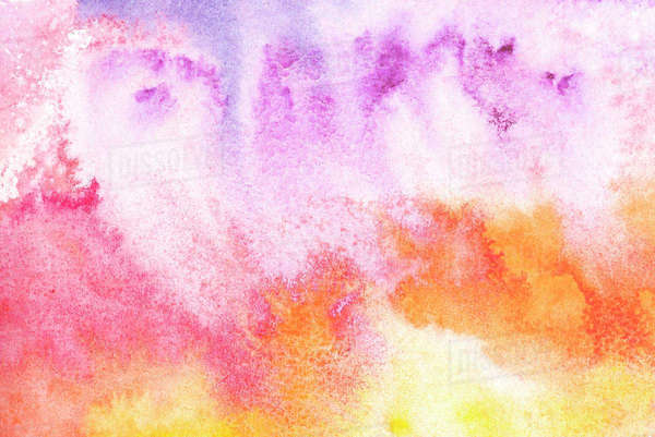 Abstract painting with colorful watercolor background - Stock Photo - Dissolve