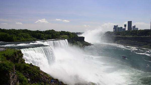 Usa Canada New York Niagara Falls Usa Side View D256 2 253