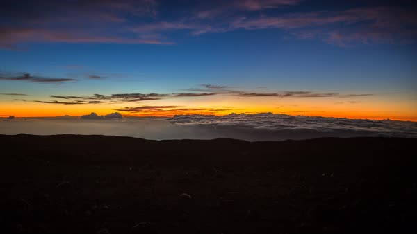 Sunset to zodiacal light to dark sky timelapse on Mauna Kea volcano Hawaii Royalty-free stock video