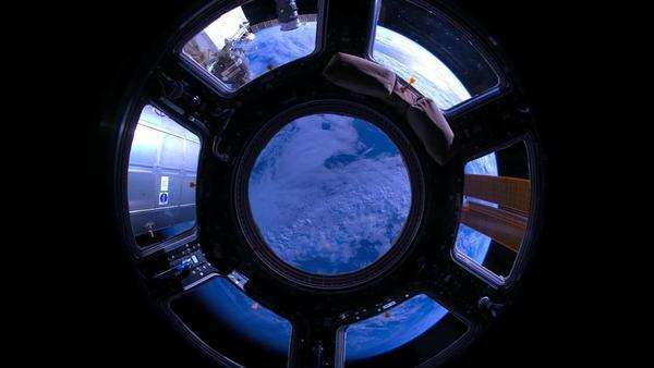 Abstract perspective of the earth from the International Space Station. Royalty-free stock video