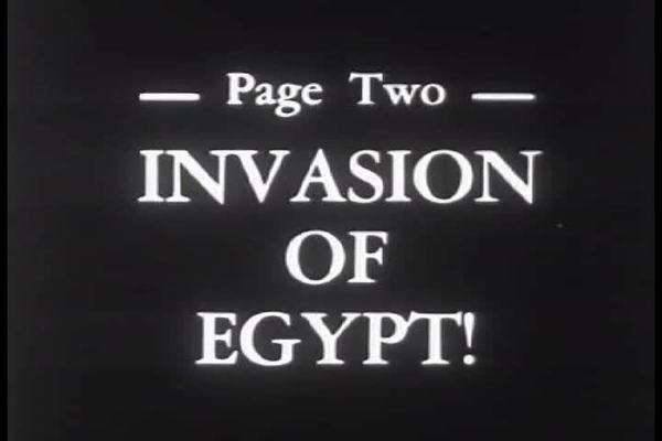 Israelis invade and take over the Sinai Peninsula in Egypt in 1956  stock  footage
