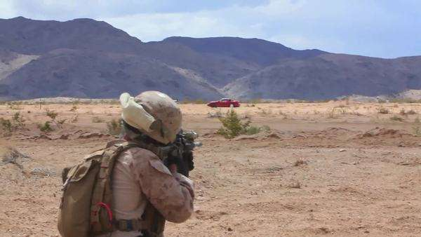 U S  Marines and Navy Seals training mission in the desert including  combat  stock footage