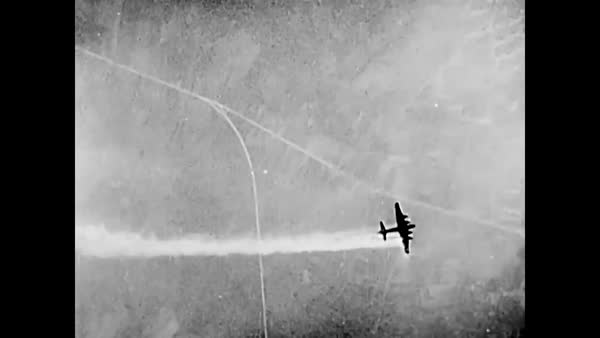 Post-WWII film depicting the value of the Air Force in Allied victory   stock footage