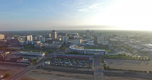 Aerial shot of Fresno in California, USA Royalty-free stock video
