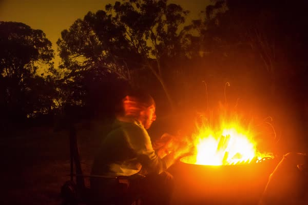 Timelapse of a bonfire at night Royalty-free stock video