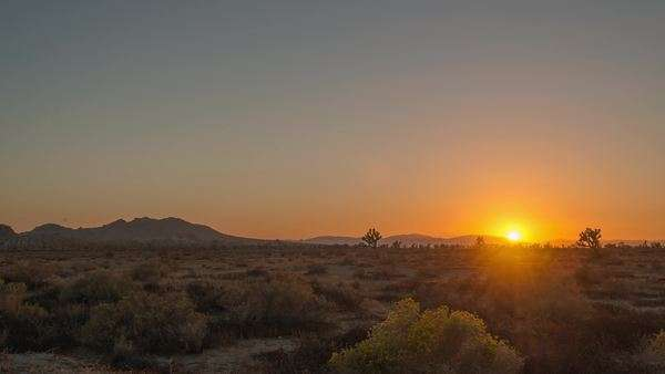 Hyperlapse Video view on sunset in the desert. Royalty-free stock video