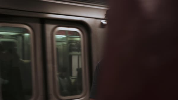 Medium shot of a man in the subway Royalty-free stock video