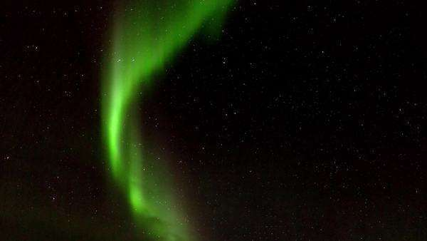 Locked off shot and timelapse view of the polar sky displaying spectacular aurora lights Rights-managed stock video