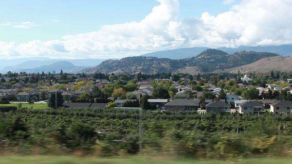 POV shot of farms in the Okanagan Valley, Canada Royalty-free stock video