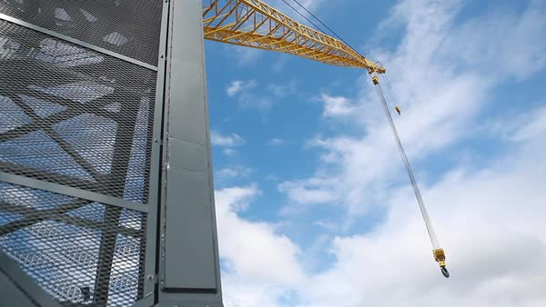 Low angle shot of a construction crane Royalty-free stock video