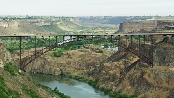 Aerial View Of Twin Falls Idaho The Perrine Bridge Us Highway 93