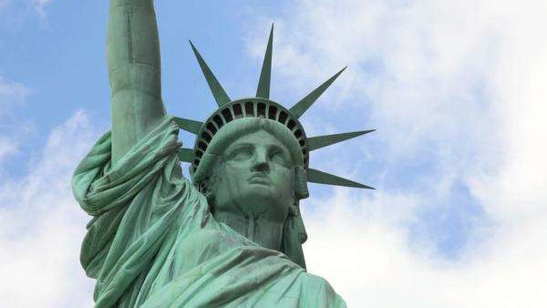 Close up of the Statue of Liberty Royalty-free stock video
