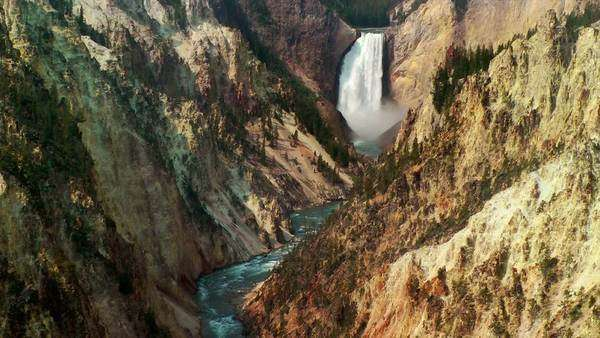 Upper Falls of the Yellowstone, Yellowstone National Park, Wyoming Royalty-free stock video