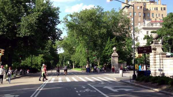 New York central park bikes Royalty-free stock video