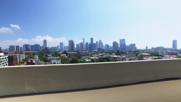 NEW JERSEY - Circa August, 2016 - Driving on Interstate 78 in New Jersey headed to New York City with the skyline of Manhattan in the distance.	 	 Royalty-free stock video