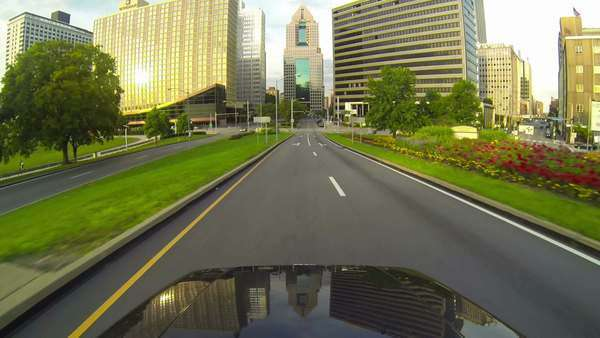 PITTSBURGH, PA, Circa July, 2013 - Driving into downtown Pittsburgh, Pennsylvania. Royalty-free stock video