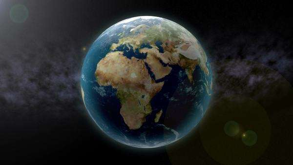 Earth zoom to Africa. Royalty-free stock video