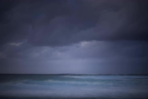 Dreamy stormy timelapse on the coast of hawaii. Rights-managed stock video