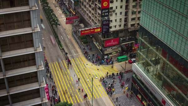 Timelapse of busy traffic street Hong Kong China Royalty-free stock video