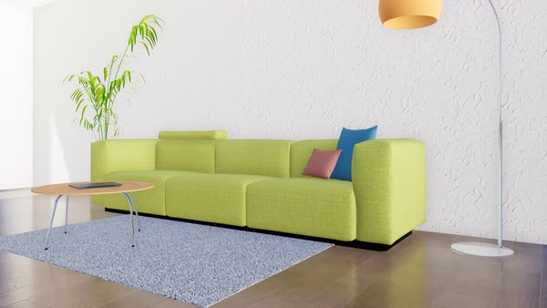 Bright modern living room interior in minimalistic design style with  D738_60_001