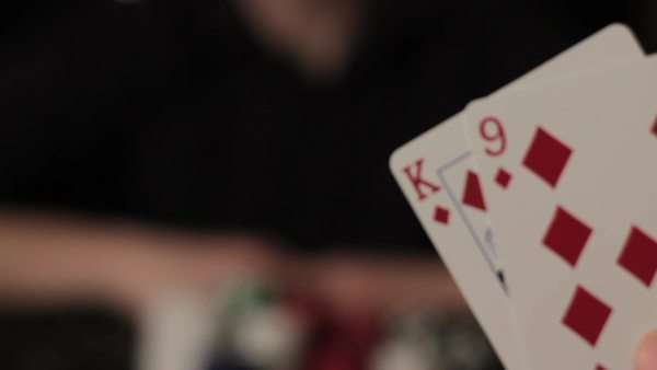 Close-up shot of people playing poker Royalty-free stock video