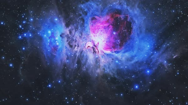Flying through the Orion Nebula  stock footage