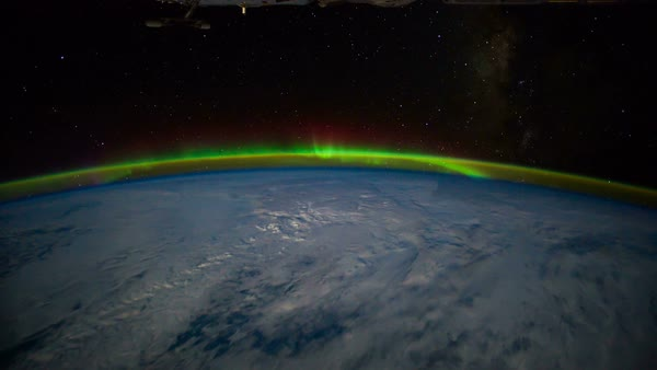 Planet Earth seen from the International Space Station with Aurora Australis over the earth, timelapse. Elements of this image furnished by NASA. Images courtesy of NASA Johnson Space Center : http://eol.jsc.nasa.gov Royalty-free stock video