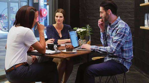 Creative Marketing Team Working Together Having A Meeting In Trendy D909 6 046