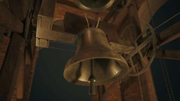 Traditional old bells ringing in a church tower Royalty-free stock video