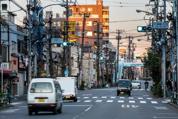 Timelapse of a street in Japan Royalty-free stock video