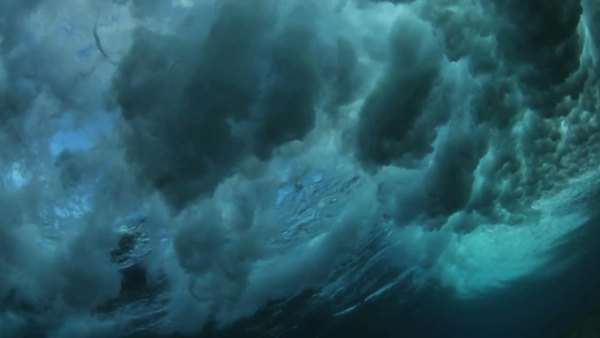 Underwater Crashing Wave Royalty-free stock video