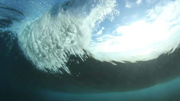 Underwater Ocean Wave With Sun Royalty-free stock video