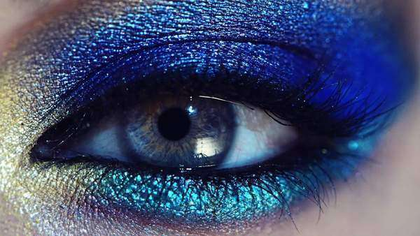 Close-up of blue human eye Royalty-free stock video