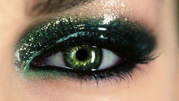 Close-up of green human eye Royalty-free stock video