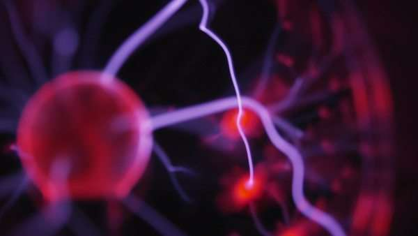 Electricity concept, plasma ball, zoom out Royalty-free stock video