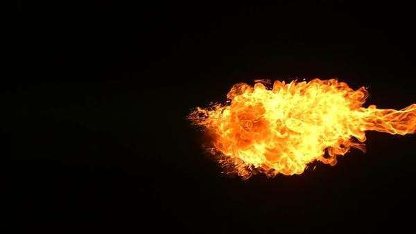 Fireball explosion, slow motion Royalty-free stock video