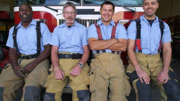 Portrait of firefighter group at station Royalty-free stock video