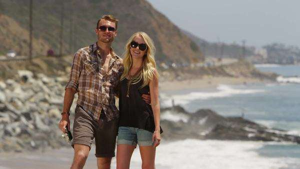 Young couple at the beach Royalty-free stock video