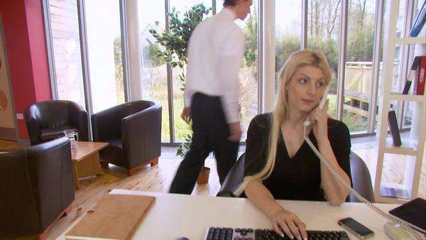 Business team working in a modern office Royalty-free stock video